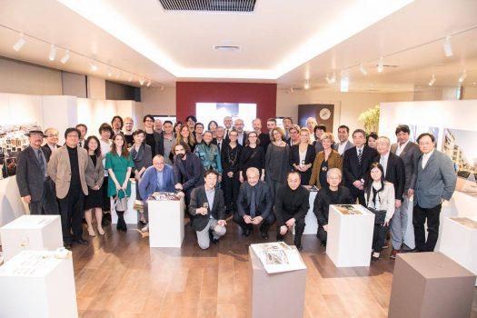 Inaugurazione della mostra del premio Barbara Capocchin presso Architecture Studio Japan, 9 aprile 2017 - Tokyo