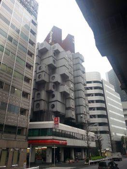 Nakagin Capsule Tower Building di Kisho Kurokawa - Tokyo