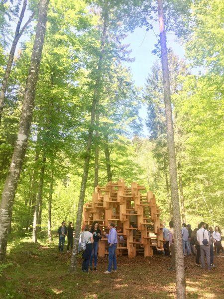 6 maggio 2018 - incontro, visita e inaugurazione dell'opera di Kengo Kuma ad Arte Sella, in collaborazione con Ceramiche Keope