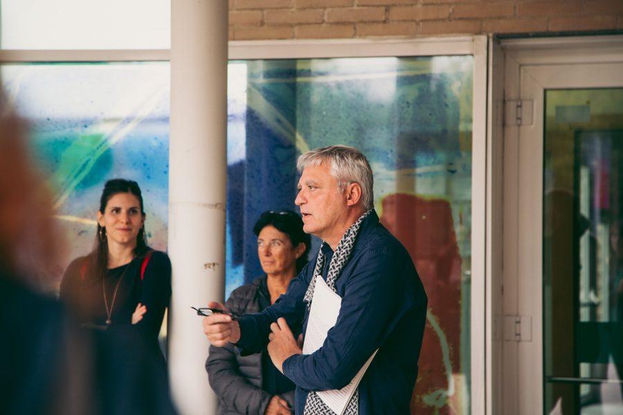 Visite guidate dai progettisti | Itinerario 4: Polo Scolastico Lama Sud, MTAA – Casa Vicoli, Luoghidellacittà – Casa per una ballerina, Angeli Brucoli – Muta Box e Darsena Pop Up, Officina Meme | 12 ottobre 2019 | © Adrian Lungu