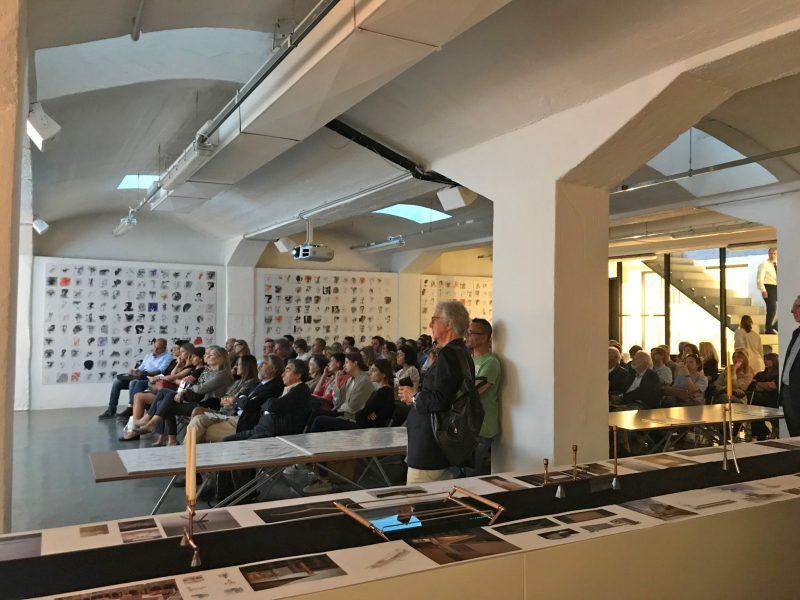 «I disegni e le architetture di Andrea Ponsi / Studio Ponsi» in occasione dell'inaugurazione della mostra | con Andrea e Luca Ponsi