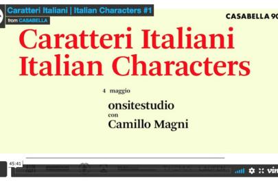 caratteri italiani